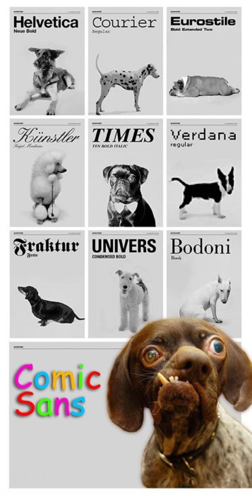 What if fonts were based on dog breeds