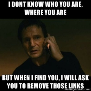 Remove those bad links for SEO Liam Neeson image