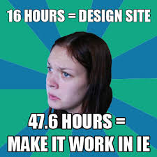 Internet Explorer is a pain in the neck for web designers