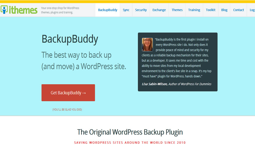 Backup Buddy WordPress backup plugin