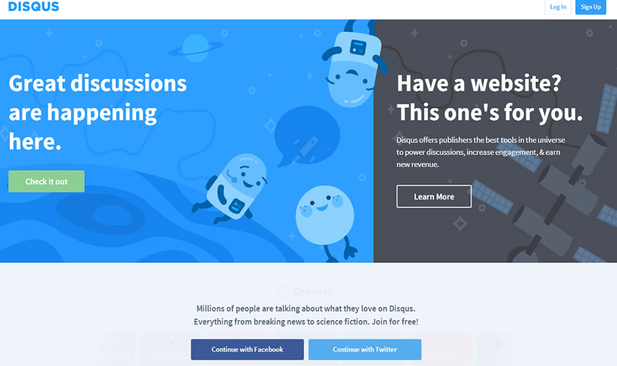 Disqus for blog commenting