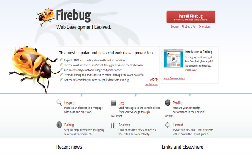 Firebug for web design