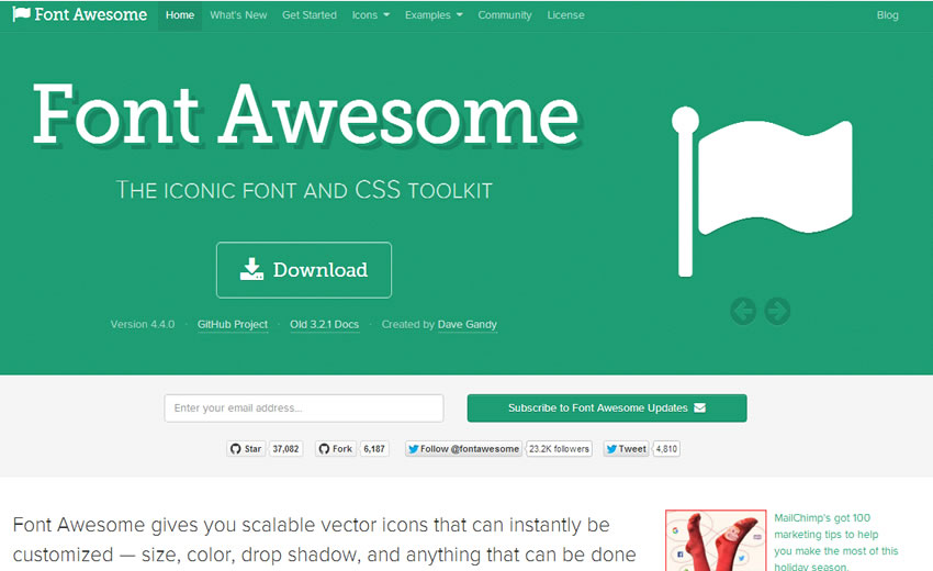 Font awesome css font toolkit