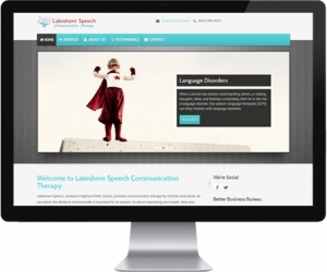 web design for Lakeshore Speech