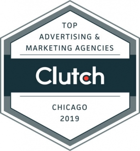 Top advertising and marketing agency award from Clutch