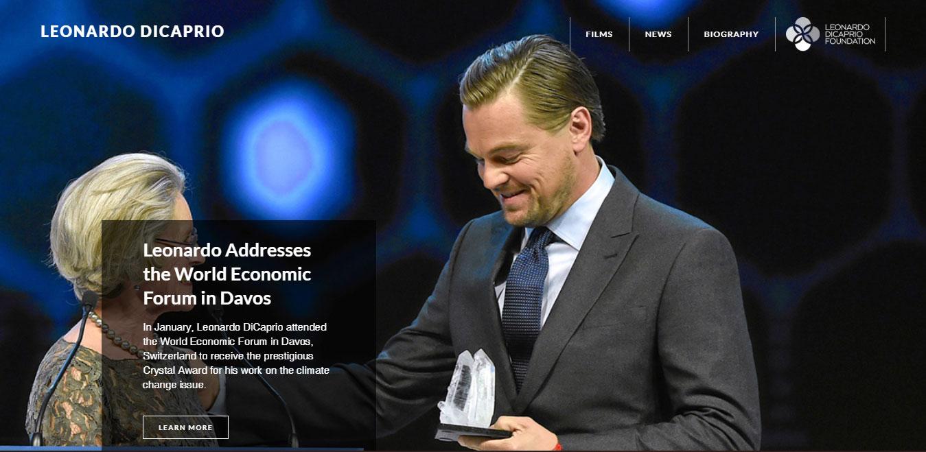Leonardo DiCaprio Website