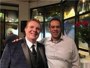 Brad Fogel at clients anniversary at Drews Restaurant