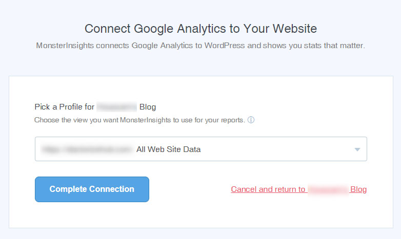 Connect Google Analytics to Website