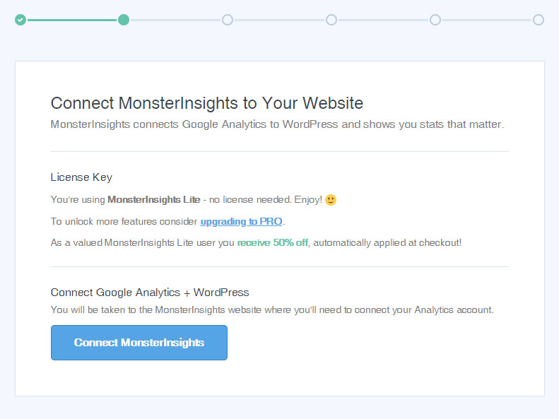 Connect Website to MonsterInsights