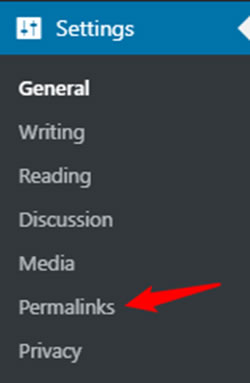 setting permalinks WordPress