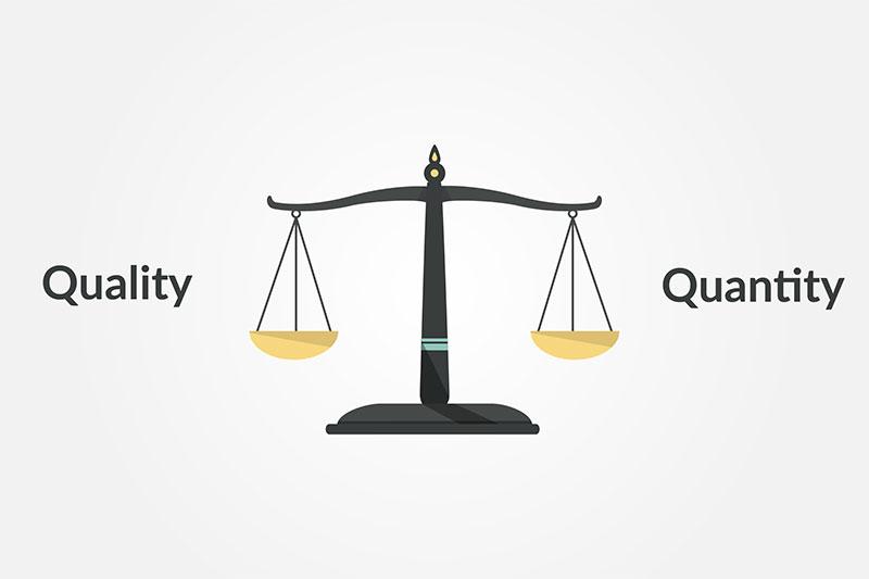 blog content quantity vs. quality