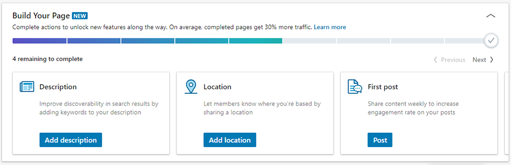 Build Your LinkedIn Page