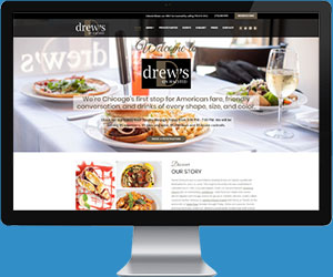 Chicago Restaurant Website Design Example