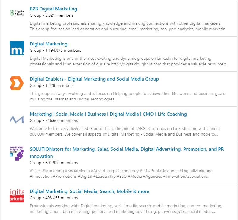 Industry inGroups LinkedIn