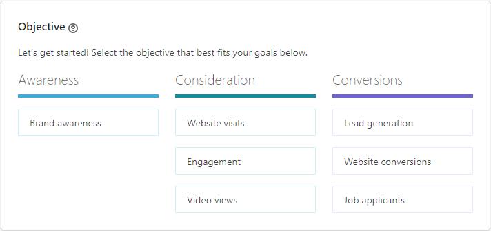 LinkedIn Ad Goals