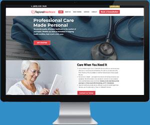 Taylored Healthcare website design